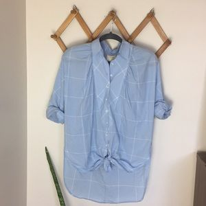 MAEVE ANTHROPOLOGIE Oversize Blouse Button Up Top